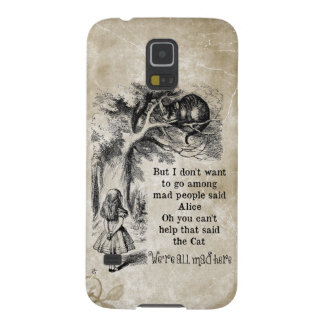 Alice in Wonderland; Cheshire Cat with Alice Cases For Galaxy S5