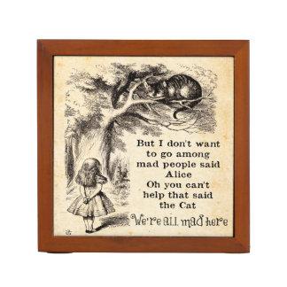 Alice in Wonderland; Cheshire Cat with Alice Desk Organiser