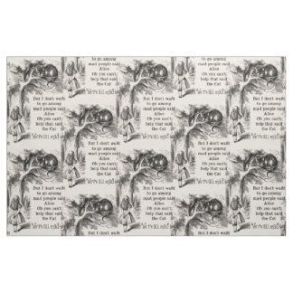 Alice in Wonderland; Cheshire Cat with Alice Fabric