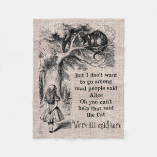 Alice in Wonderland; Cheshire Cat with Alice Fleece Blanket