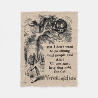 Alice in Wonderland; Cheshire Cat with Alice Fleece Blanket