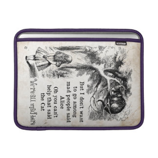 Alice in Wonderland; Cheshire Cat with Alice Sleeve For MacBook Air
