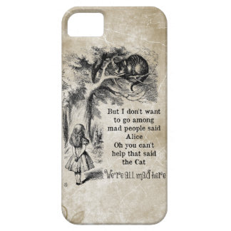 Alice in Wonderland; Cheshire Cat with Alice iPhone 5 Case