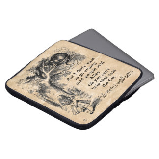 Alice in Wonderland; Cheshire Cat with Alice Laptop Sleeve