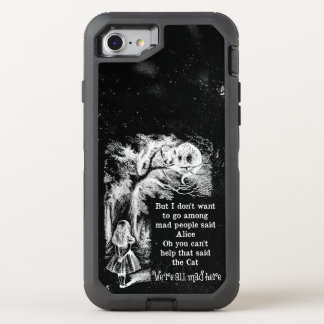 Alice in Wonderland; Cheshire Cat with Alice OtterBox Defender iPhone 8/7 Case