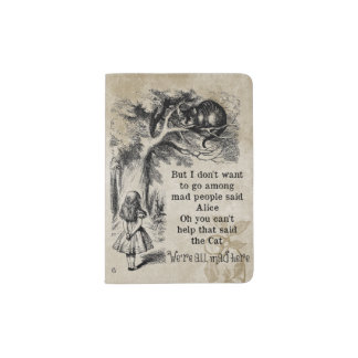 Alice in Wonderland; Cheshire Cat with Alice Passport Holder