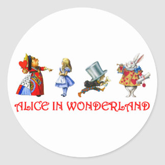 ALICE IN WONDERLAND CLASSIC ROUND STICKER