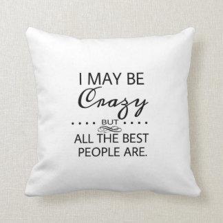 Alice in Wonderland Crazy Quote Cushion