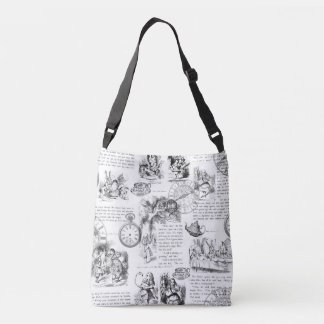 Alice in Wonderland Cross Body Bag