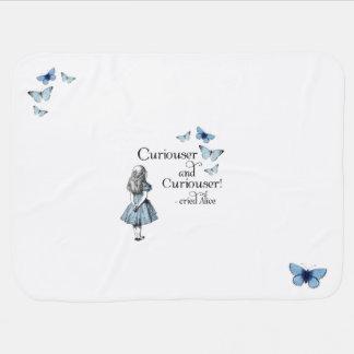 Alice in Wonderland Curiouser Baby Blanket