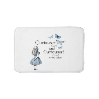 Alice in Wonderland Curiouser Butterflies Bath Rug