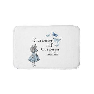 Alice in Wonderland Curiouser Butterflies Bath Rug Bath Mats