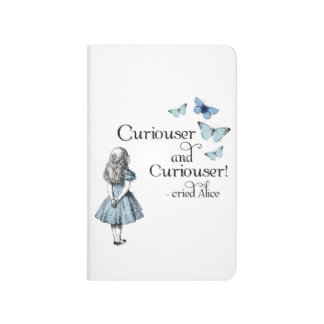 Alice in Wonderland Curiouser Butterfly Journal