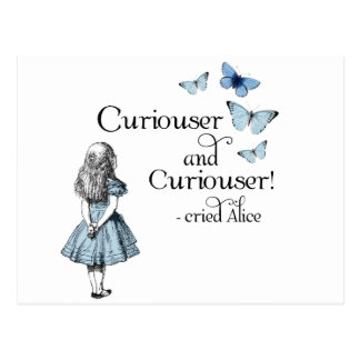 Alice in Wonderland Curiouser Butterfly Postcard