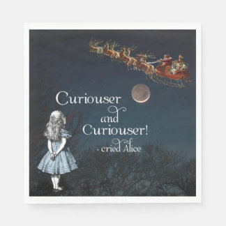 Alice in Wonderland Curiouser Christmas Napkins Paper Serviettes