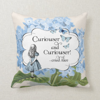 Alice in Wonderland Curiouser Hydrangea Pillow
