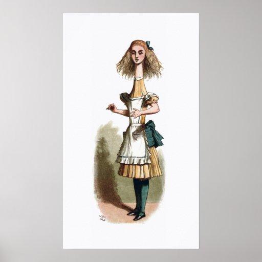 Alice in Wonderland Curiouser Poster Print