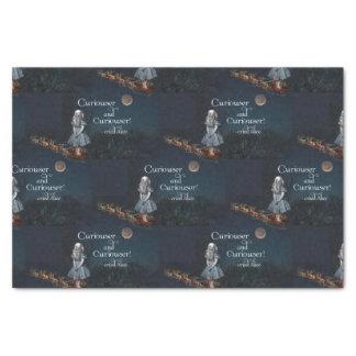Alice in Wonderland Curiouser Santa Tissue Paper