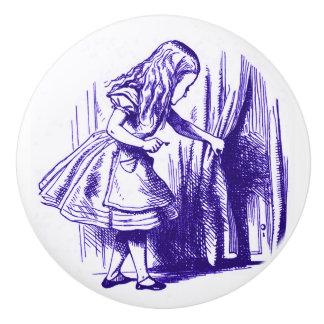Alice in Wonderland Curtain Purple Knob