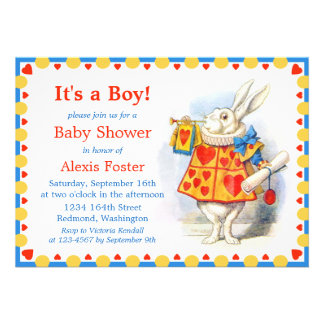 Alice in Wonderland Custom Baby Shower Invites