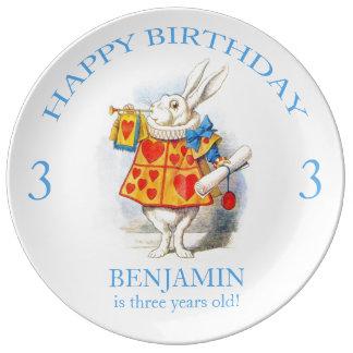Alice in Wonderland Custom Birthday Party Plate