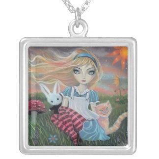 Alice in Wonderland Cute Fantasy Art Necklace