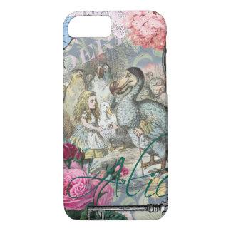 Alice in Wonderland Dodo Vintage Pretty Collage iPhone 7 Case