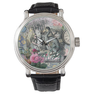 Alice in Wonderland Dodo  Vintage Pretty Collage Watch
