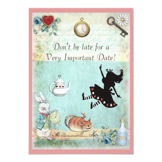 Alice in Wonderland Don't Be Late Baby Shower