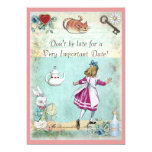 Alice in Wonderland Don't Be Late Birthday Announcement