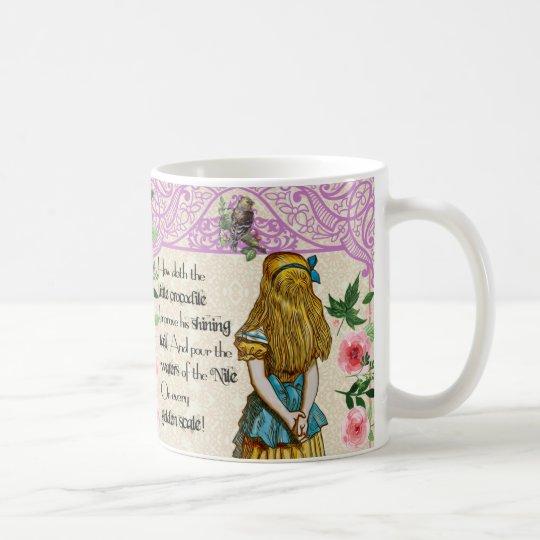 Alice in wonderland double quote mug, vintage coffee