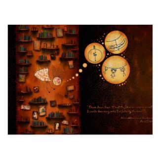 Alice in Wonderland-Down The Rabbit-Hole Postcard
