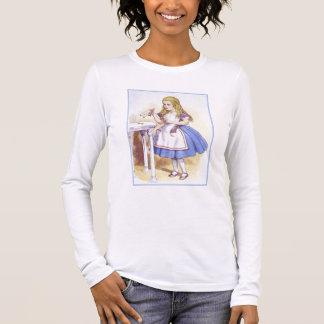 Alice in Wonderland - Drink Me - by Tenniel Long Sleeve T-Shirt