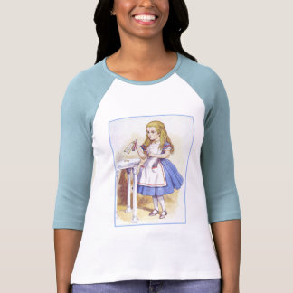 Alice in Wonderland - Drink Me - by Tenniel T-shirts