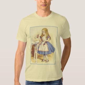 Alice in Wonderland - Drink Me - by Tenniel Tshirt