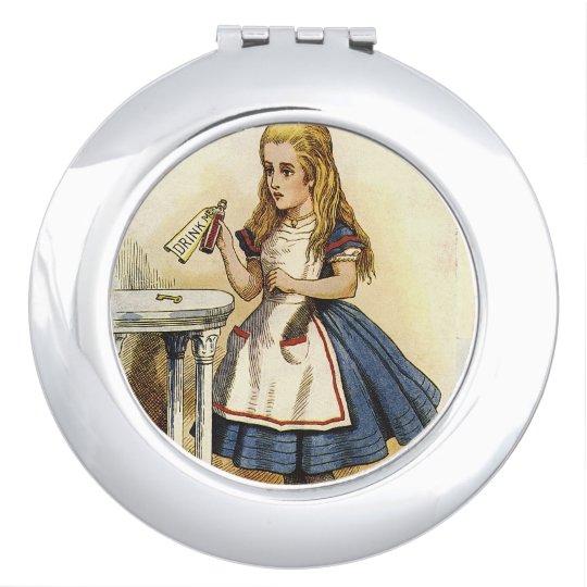 Alice in wonderland drink me compact vanity mirror