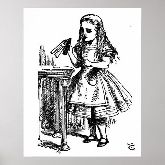 Alice in Wonderland Drink Me Large Canvas Poster
