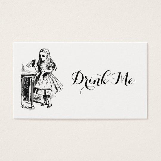 Alice in Wonderland Drink Me Wedding Drink Tickets