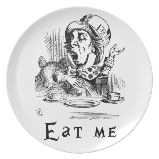 Alice in Wonderland - Eat me Party Plates
