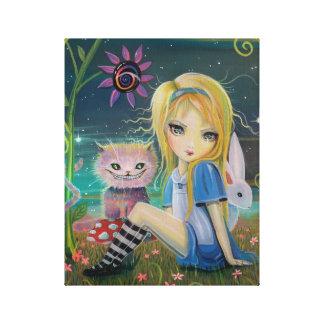 Alice in Wonderland Fantasy Fairytale Art Big Eye Gallery Wrapped Canvas