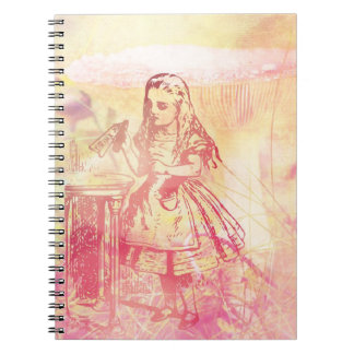 Alice In Wonderland Fantasy Spiral Notebooks