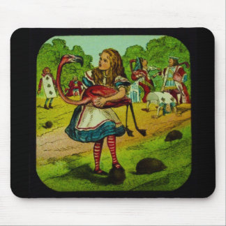 Alice in Wonderland Flamingo Croquet Mousepads