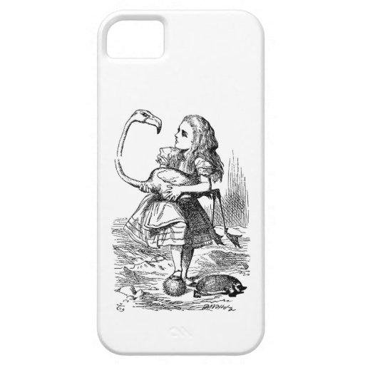 Alice in Wonderland flamingo croquet vintage print iPhone 5 Cover