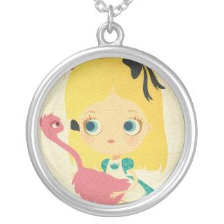 Alice in Wonderland Flamingo Necklace