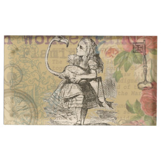 Alice in Wonderland Flamingo Vintage Table Card Holders