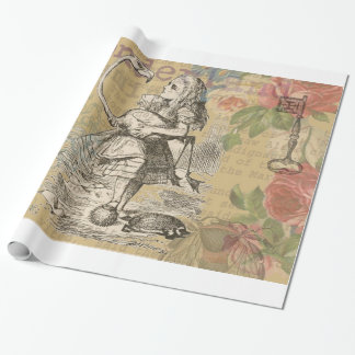 Alice in Wonderland Flamingo Wrapping Paper