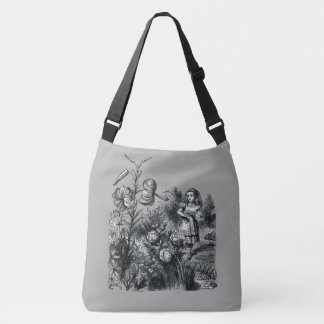 Alice in Wonderland & Flowers Crossbody Bag