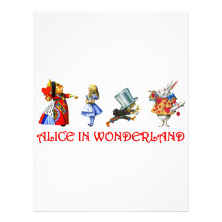 ALICE IN WONDERLAND PERSONALIZED FLYER