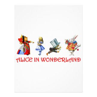 ALICE IN WONDERLAND PERSONALIZED FLYER
