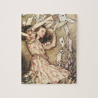 Alice in Wonderland Flying Cards Puzzle